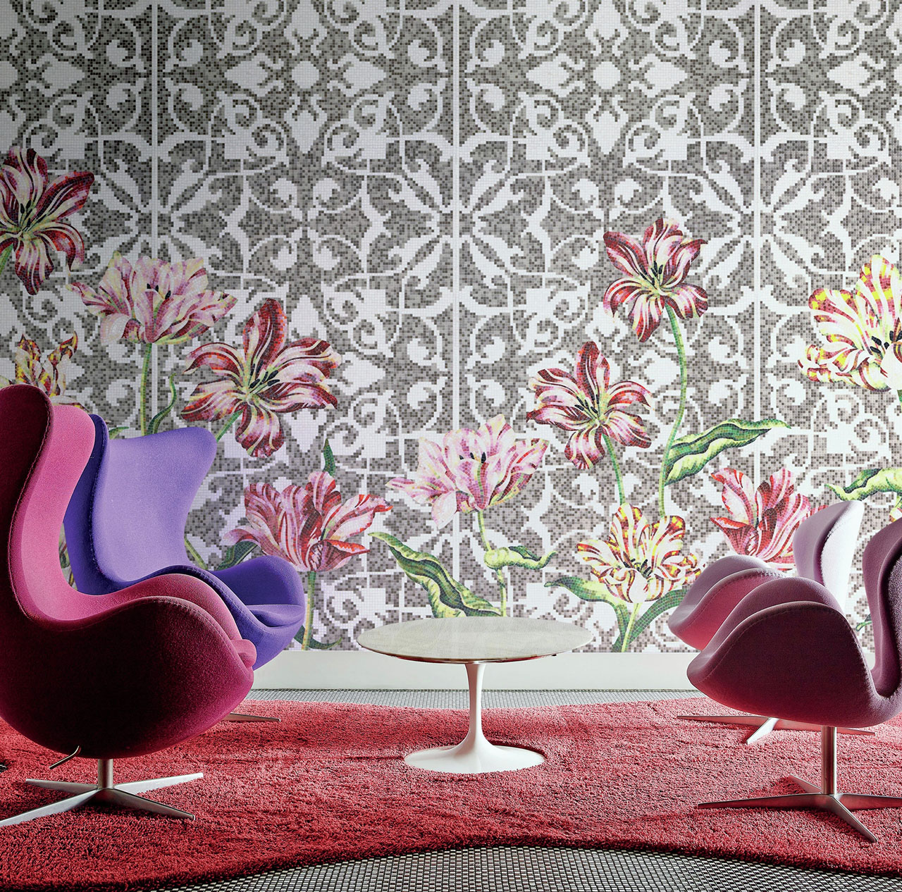 Bisazza mosaico tulips grey medium