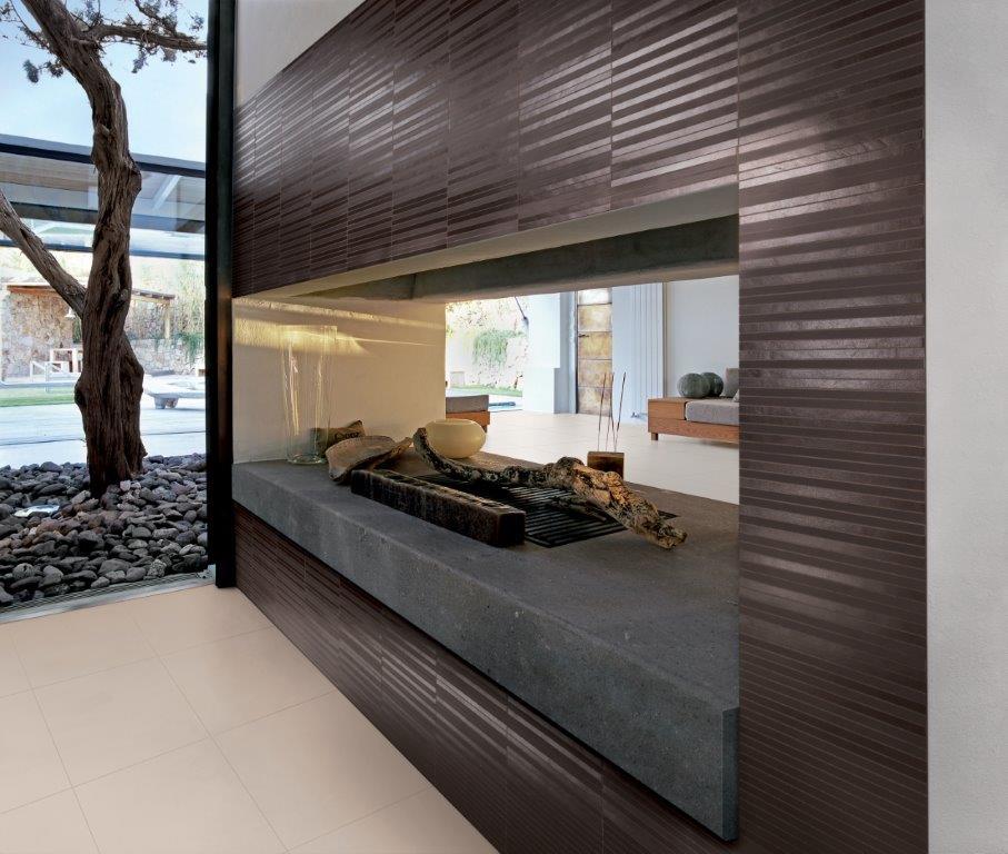 grès porcellanato architecture mix listelli dark brown
