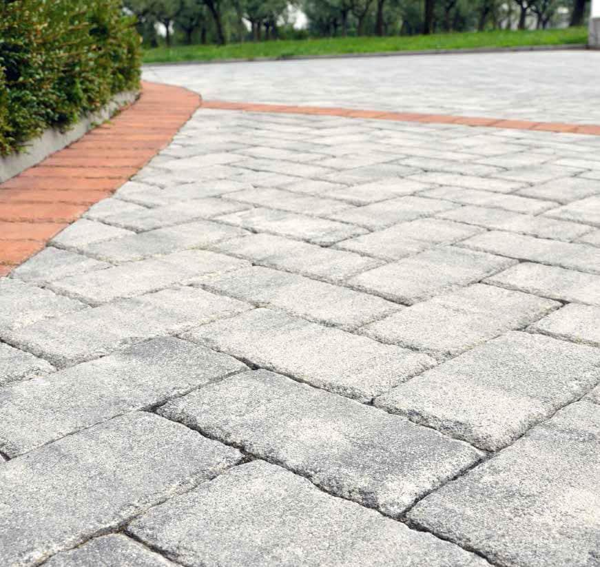 pavimento esterno mattone anticato bianco mix