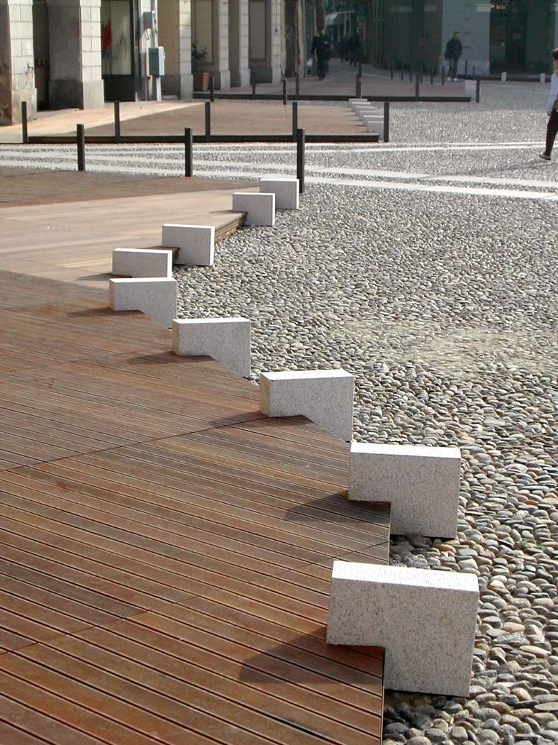 pavimento esterno piastre dissuasori